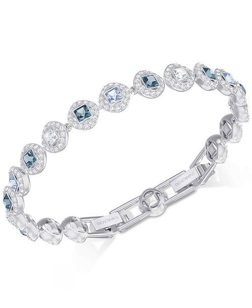 Swarovski Silver Tone Halo Crystal