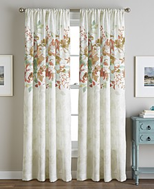 Reversible Watercolor Floral-Print Rod Pocket Window Panel Collection