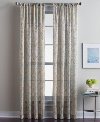 "Winston Paisley Damask 50"" x 63"" Tailored Rod Pocket Window Panel"