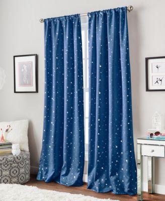 "Starry Night 40"" x 63"" Room-Darkening Energy-Efficient Rod Pocket Window Panel"