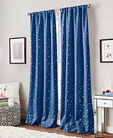 Starry Night Room-Darkening Energy-Efficient Rod Pocket Window Panel Collection