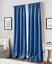Curtainworks Starry Night Room-Darkening Energy-Efficient Rod Pocket Window Panel Collection