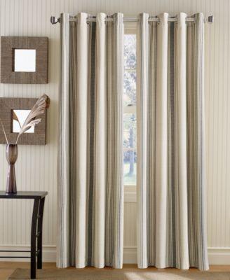 """Veranda Vertical Stripe 50"""" x 95"""" Grommet Top Window Panel"""