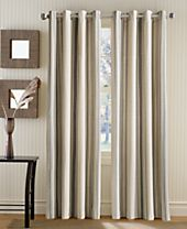 Curtainworks Veranda Vertical Stripe Grommet Top Window Panel Collection