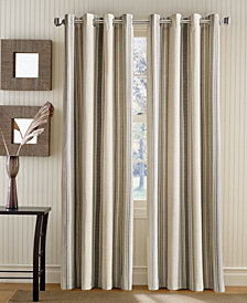 Curtainworks Veranda Vertical Stripe Grommet Top Window Panel Collection