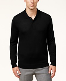 Club Room Men's Regular-Fit Sweater-Knit Polo Shirt, Created for Macy's