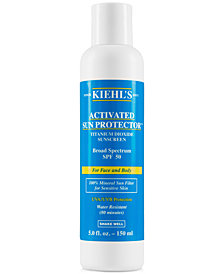 Kiehl's Since 1851 Activated Sun Protector 100% Mineral Sunscreen SPF 50, 5-oz.