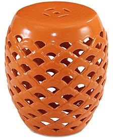 Modesto Ceramic Garden Stool, Quick Ship