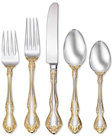 Golden Mandolina 45-Pc. Flatware Set, Service for 8