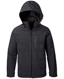 Hawke & Co. Outfitter Men's 3-in-1 Colorblocked Hooded Raincoat