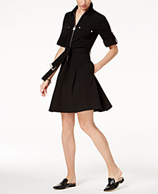 MICHAEL Michael Kors Belted Shirtdress in Regular & Petite Sizes