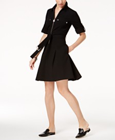 MICHAEL Michael Kors Belted Shirtdress, In Regular and Petite