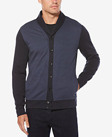 Perry Ellis Men's Birdseye Shawl-Collar Cardigan