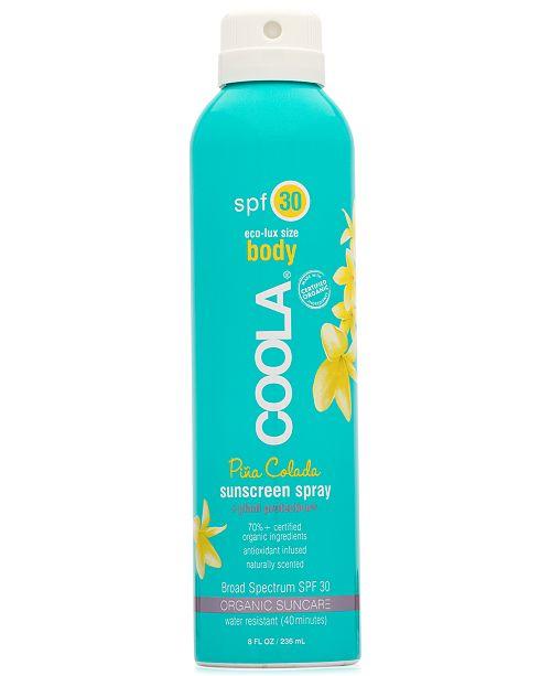 COOLA Body Piña Colada Sunscreen Spray SPF 30, Eco-Lux Size