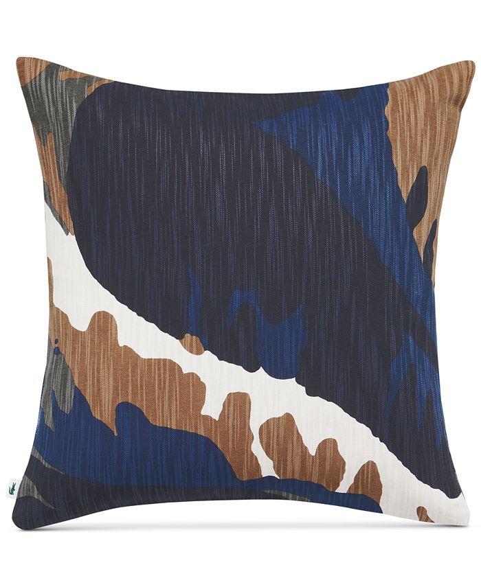 """Lacoste Home - Crocodile 18"""" Square Decorative Pillow"""