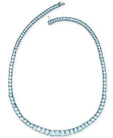 Sky Blue Topaz Graduated All-Around Collar Necklace (54 ct. t.w.) in Sterling Silver