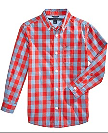 Box-Plaid Cotton Shirt, Toddler Boys