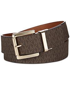MICHAEL Michael Kors Reversible Signature Leather Belt