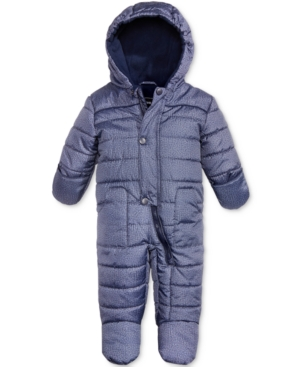 S Rothschild Hooded Melange Footed Pram Snowsuit Baby Boys (024 months)