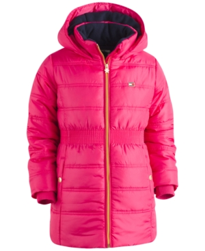 Tommy Hilfiger Hooded Quilted Puffer Coat Big Girls (716)