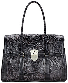 Patricia Nash Tuscan Tooled Vienna Top-Flap Shoulder Bag