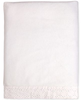 Lily Embroidered Eyelet Velboa Blanket