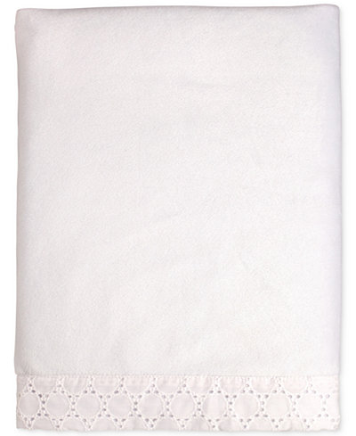 Carter's Lily Embroidered Eyelet Velboa Blanket