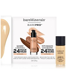 Choose your FREE Deluxe BarePro Liquid Foundation with any $50 bareMinerals purchase
