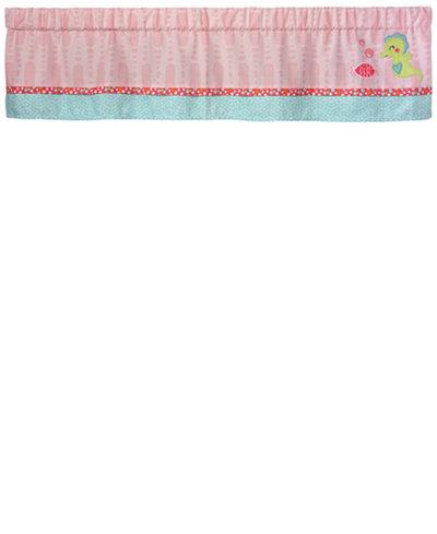 Carter's Sea Colorblocked Geo-Print Embroidered Appliqué Window Valance