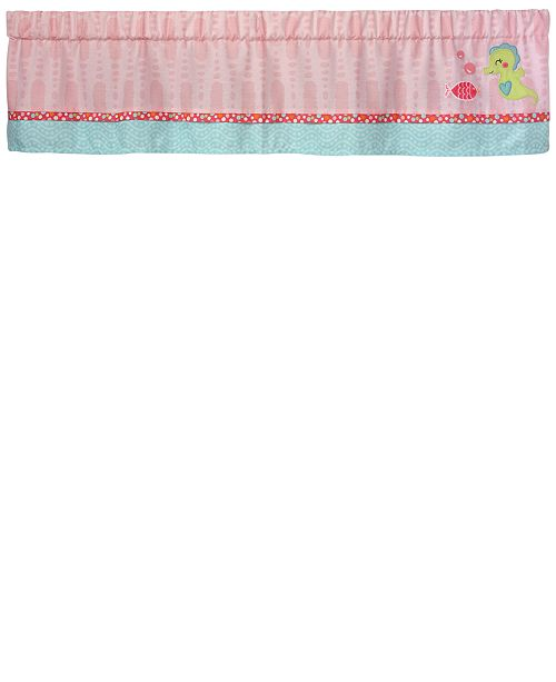 Carter's Sea Colorblocked Geo-Print Embroidered Appliqué Window Valance