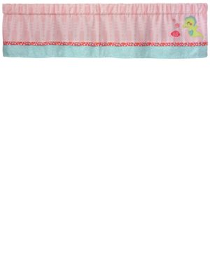 Carter's Sea Colorblocked Geo-Print Embroidered Applique Window Valance Bedding 4926155
