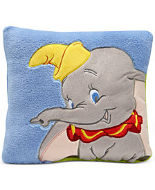 Disney Dumbo Dream Big Embroidered Appliqué Plush Decorative Pillow