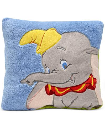 Disney Dumbo Dream Big Embroidered Appliqué Plush Decorative Pillow