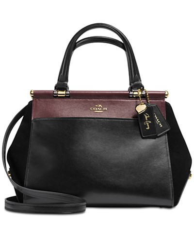 COACH Selena Gomez Grace Bag In Colorblock Mixed Leathers