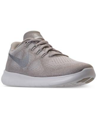 nike free run 2017 women's white sneakers