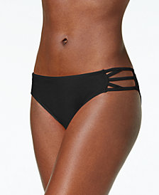 California Waves Juniors' Strappy Hipster Bikini Bottoms, Created for Macy's