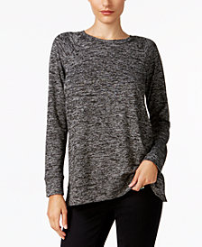 Style & Co Melange Raglan-Sleeve Knit Top, Created for Macy's