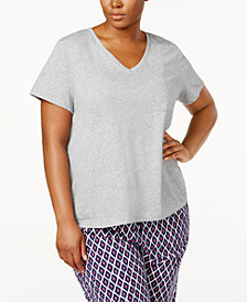 Nautica Plus Size V-Neck Pajama T-Shirt