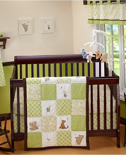 Bring The Magical Style Of Hundred Acre Wood To Your Child S Bedroom With Colorful Winnie Pooh Characters And Refreshing Fern Green