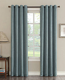"""CLOSEOUT! Sun Zero Collins Crushed Solid Room Darkening Woven Curtain 50"""" x 84"""" Panel"""