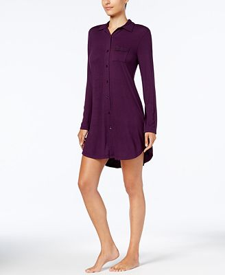 Alfani Lace-Trim Sleepshirt, Created for Macy's