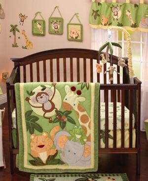 NoJo Jungle Babies 8-Pc. Crib Bedding Set Bedding