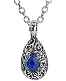 Lapis Doublet Pendant Necklace (6 ct. t.w.) in Sterling Silver