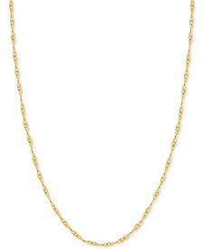 "18"" Singapore Chain Necklace in 14k Gold"