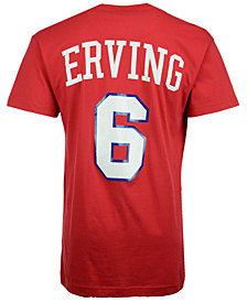 fdba43bc8e5d Mitchell   Ness Men s Julius Erving Philadelphia 76ers Hardwood Classic  Player T-Shirt