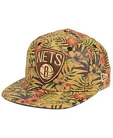 New Era Brooklyn Nets Smoove Leather 9FIFTY Snapback Cap