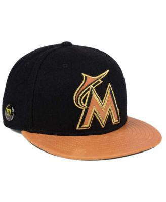 sports shoes b3254 d3d9e ... promo code for new era miami marlins x wilson metallic 59fifty fitted  cap sports fan shop