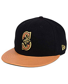 New Era Seattle Mariners X Wilson Metallic 59FIFTY Fitted Cap