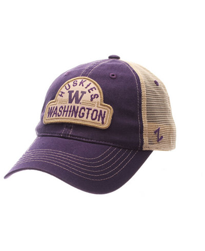 Zephyr Washington Huskies Route Trucker Snapback Cap
