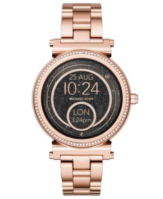 Access Women's Sofie Rose Gold-Tone Stainless Steel Bracelet Touchscreen Smart Watch 42mm